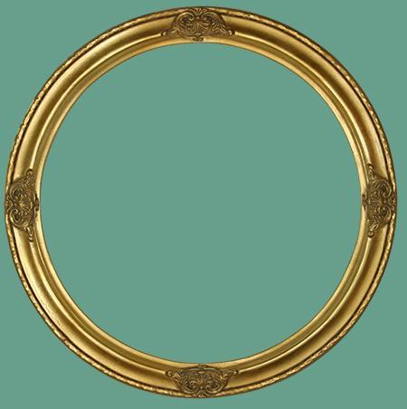 Vintage round frame assumed